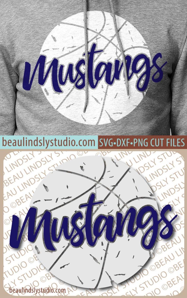 Mustangs Basketball SVG File Grunge Mustang SVG DIY image 0