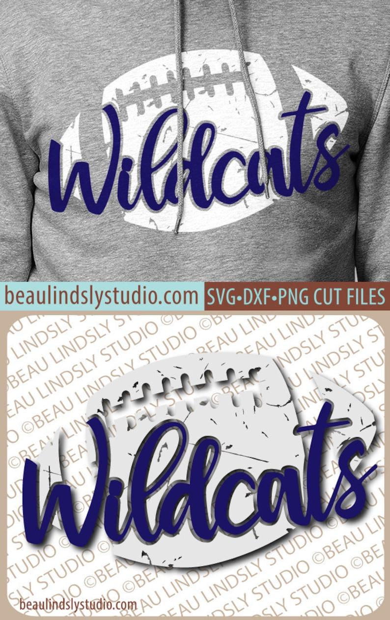 Wildcats Football SVG File Grunge Wildcat SVG DIY Football image 0