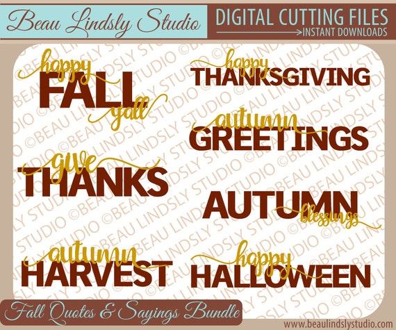 Fall svg cutting files quotes and sayings happy thanksgiving etsy image 0 m4hsunfo