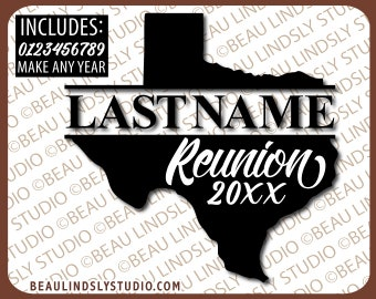 Custom Texas Family Reunion SVG Cutting File, Texas SVG, Family Reunion T Shirt SVG, Cricut svg File Format, svg file for Silhouette Pattern