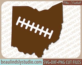 Ohio State Football SVG File, Ohio Football SVG, Football Mom SVG, Ohio svg, svg File For Silhouette, svg File For Cricut, Football Sister