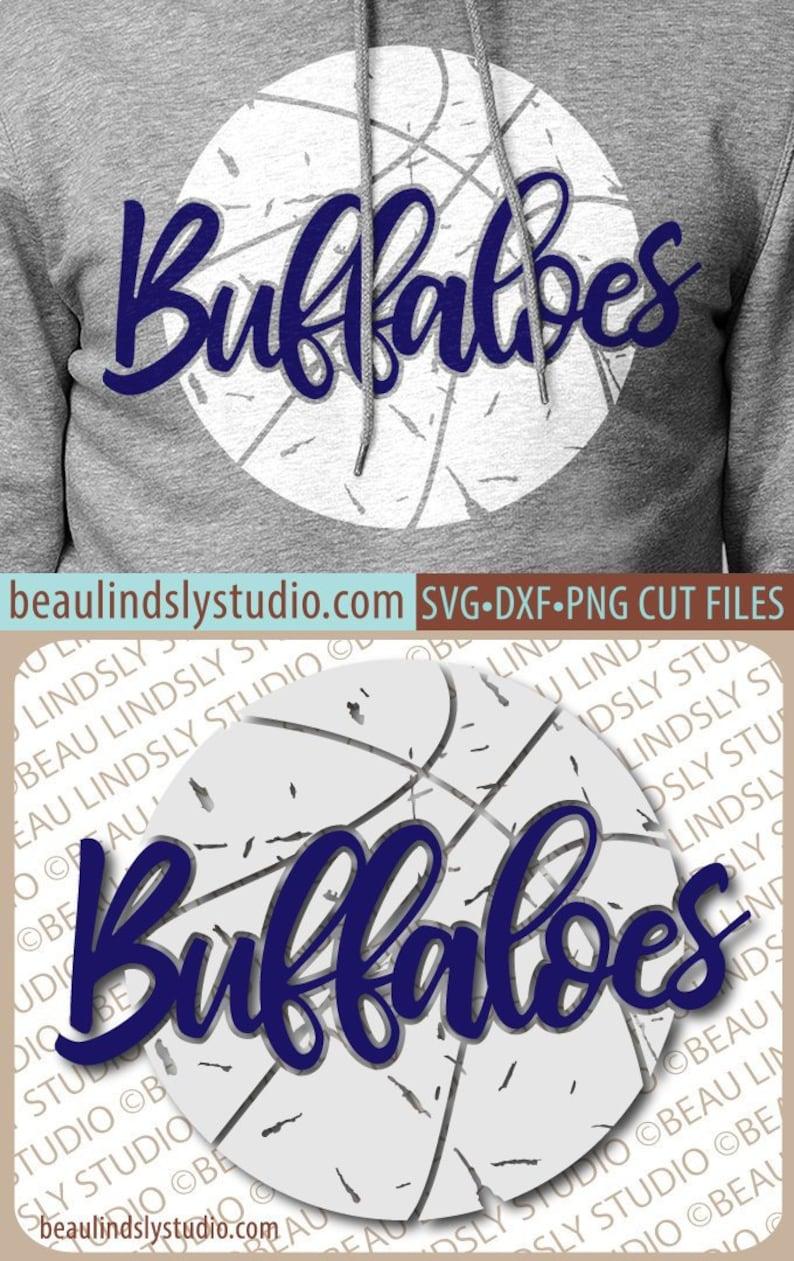 Buffaloes Basketball SVG File Grunge Buffalo SVG DIY image 0