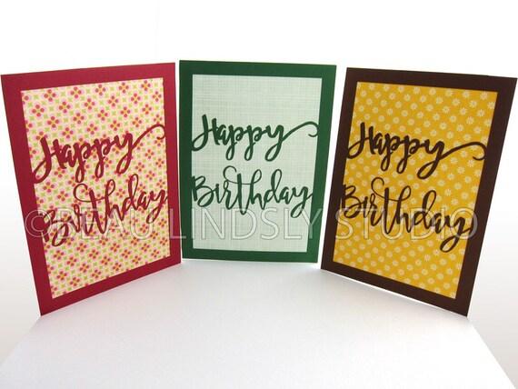 Birthday Card Svg Cutting File Happy Birthday Card Happy Etsy