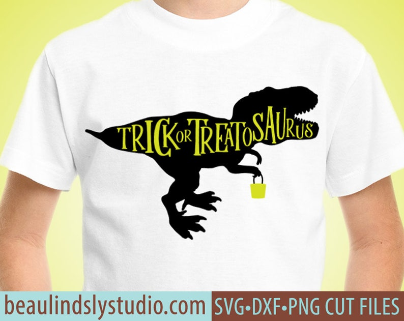 Halloween Dinosaur SVG File Halloween T Rex SVG Halloween image 0
