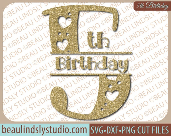 Girls 5th Birthday Svg File Happy 5th Birthday Svg Birthday Wishes Svg Birthday Girl Svg File For Silhouette Svg File For Cricut Project
