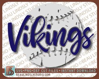 Vikings Baseball SVG, Vikings Softball SVG, Little League Bulldog, Grunge Bulldog Baseball SVG For Cricut Projects, svg For Silhouette