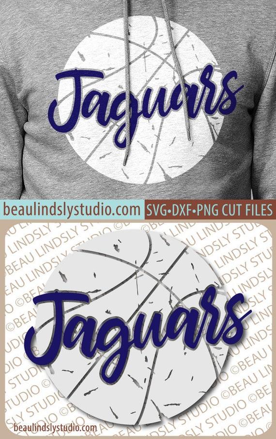 Jaguars Basketball SVG File, Grunge Jaguar SVG, DIY Basketball Mom Shirt,  Grunge Basketball svg File For Silhouette, svg File For Cricut
