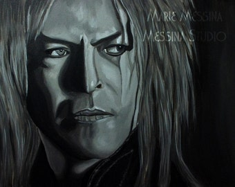 """13"""" x 23"""" Fine Art Print of Jareth from The Labyrinth """"Within You"""" Limited Edition david bowie gobling king giclee"""