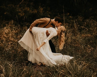 Boho Wedding Dress Lace Wedding Dress Long Sleeve Wedding Gown Tulle Wedding Gown Wedding Dress Hestia2 Gown