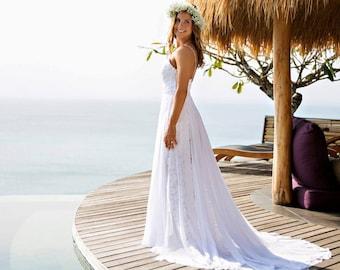 French Lace Love Wedding Dress Romantic Wedding Gown Bohemian Wedding Dress