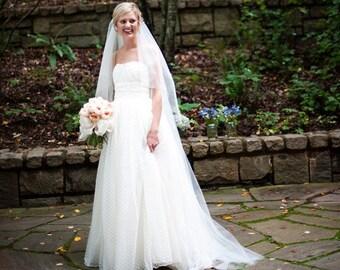 50dec0f2a04283 Polka Dot Wedding Gown inspired by CHRISTOS MARIBEL dress