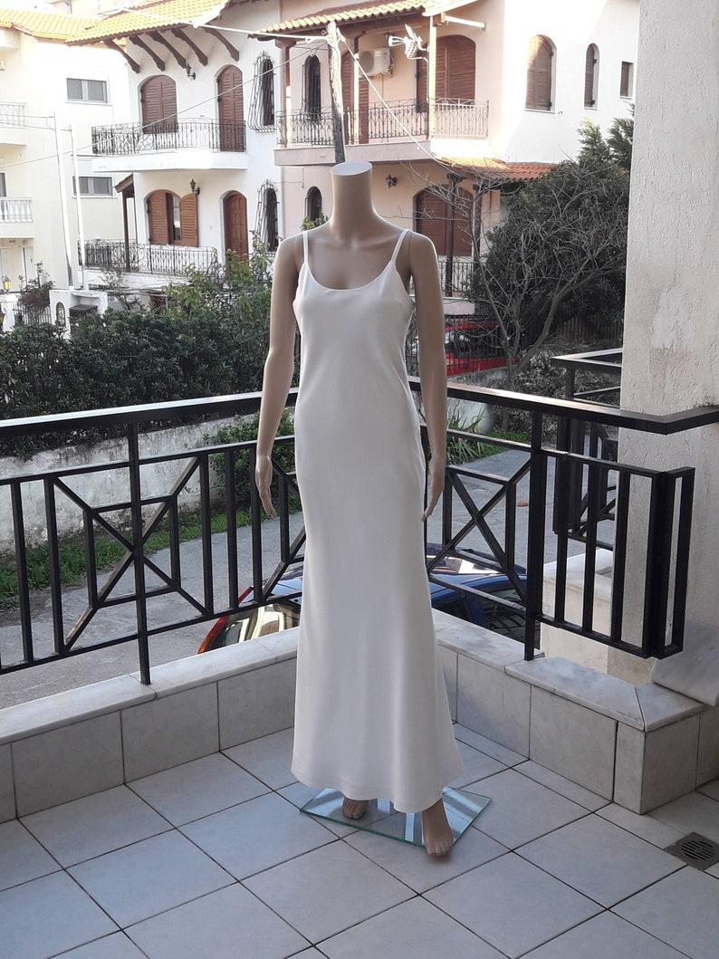 Slip Dress Bias Cut Gown Simple Wedding Dress Silky Simple Wedding Dress Simple Maxi Dress Bias Cut Dress