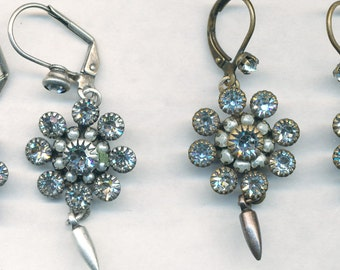 SWAROVSKI CRYSTAL PEARL Earrings with Cast Drop