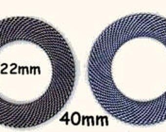 BRASS MESH RINGS 40MM Oval--One Mesh Ring