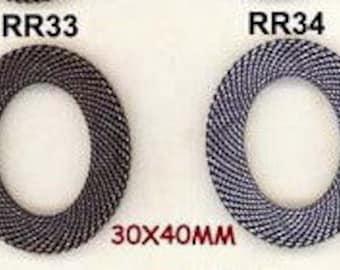 BRASS MESH RINGS 30X40MM Oval--One Mesh Ring