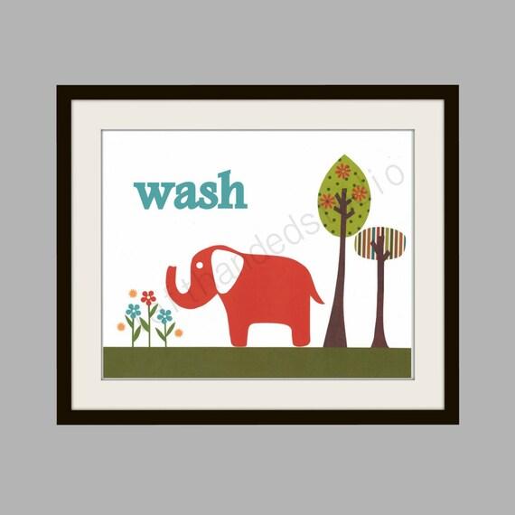 Target Circo Elephant Childrens Art Print Kids Room