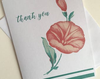 Vintage image thank you cards,Personalized stationery set,note cards,greeting cards,Calligraphy thank you cards