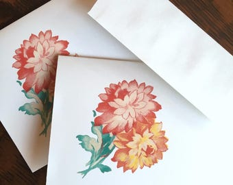 Vintage image thank you cards,Personalized stationery set,note cards,Thank you note cards,Calligraphy note card set