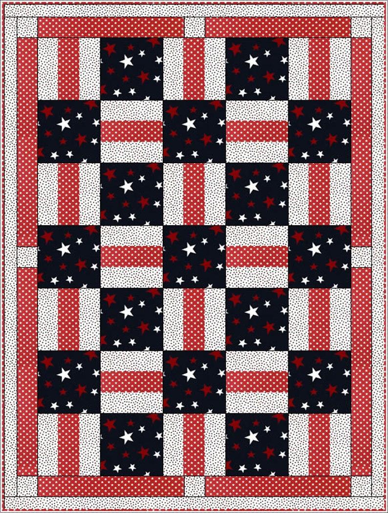 Downloadable Porch Rails Quilt Pattern Easy 3 Yard design ...