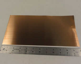"Copper sheet, 6""x 12"" Sheets, 14ga, 16ga, 18ga, 20ga, 22ga, 24ga, 26ga, 30ga, 32ga, 34ga"