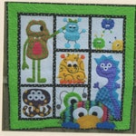 Kid's Quilt pattern- Morgan's Monster Madness - quilt pattern