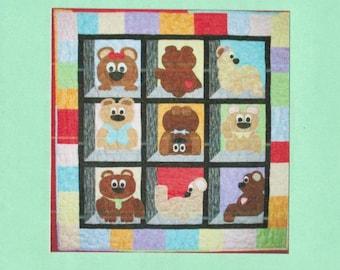 Teddy Bear Quilt Pattern - Bears in My Windown