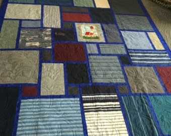 Memory Keepsake Quilt, custom made from your loved ones clothing, etc