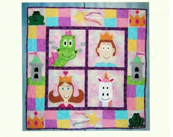 Quilt Pattern with Fairy Tales - Girl quilt pattern - Child Applique Pattern -Rachel's Fairytale