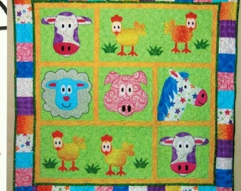 Farm Animals Baby Quilt Pattern Wallhanging