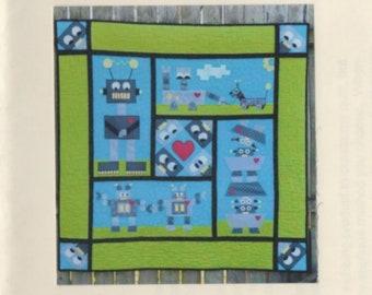 Child's Robot Quilt Pattern - Brock's Bots