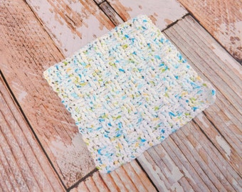 White Cotton Dishcloth - 100% cotton washcloth - kitchen dishcloth washcloth - textured washcloth - housewarming gift - kitchen essential