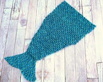 CROCHET PATTERN - Mermaid Tail Blanket Pattern - Adult size lap blanket - lap afghan pattern - crocodile stitch pattern - snuggle blanket