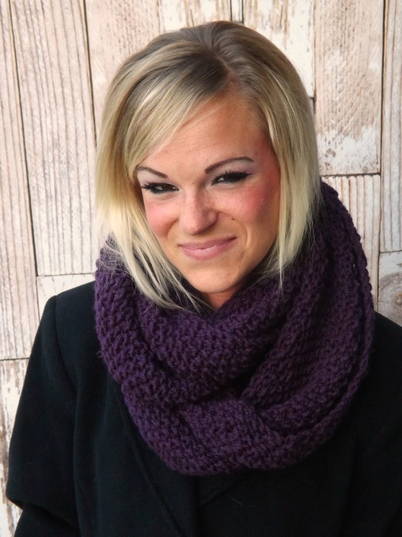 KNITTING PATTERN  The Serenity Infinity Scarf Pattern  Knit image 0
