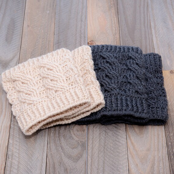 CROCHET PATTERN The Penny Boot Cuff Pattern DIY Winter | Etsy