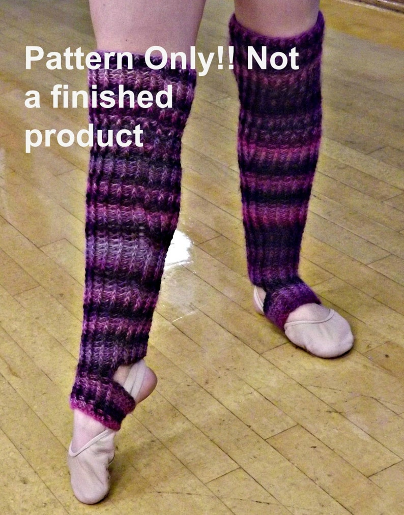 CROCHET PATTERN  Ribbed Stirrup Legwarmer Crochet Pattern  image 0