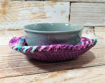 Microwave Bowl Cozy – Cotton Bowl Cozy – Soup Bowl Cozy – Microwave Bowl Hot Pad – Kitchen Accessory – Dorm Gift – Hostess Gift