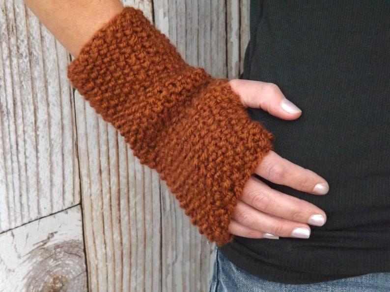 Fingerless Gloves  Knit Fingerless Mitts  Texting Gloves  image 0