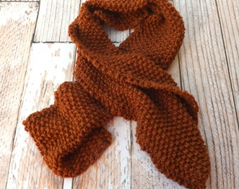 KNITTING PATTERN - The Serenity Scarf Pattern - Knit Scarf Pattern - Winter Scarf Pattern - Unisex Winter Accessory - Long scarf
