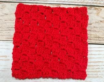 Cotton Dishcloth - 100% cotton washcloth - kitchen dishcloth washcloth - textured washcloth - housewarming gift - kitchen essential