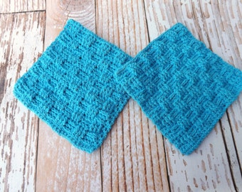 Cotton Dishcloth - 100% cotton dishcloth - textured cotton washcloth - dishrag - basket weave washrag - housewarming gift