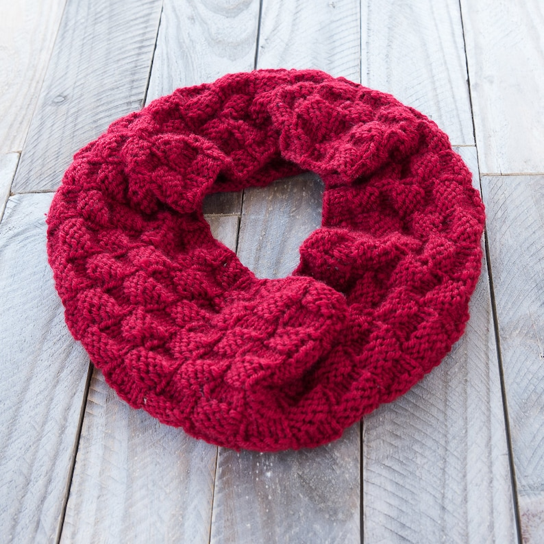 Knitting Pattern The Cordelia Infinity Cowl Pattern Basket Etsy