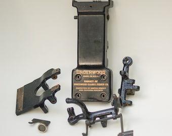 Antique Underwood Typewriter Parts Tabulator Mechanism Assorted #9 Steampunk Restoration Altered Art