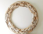 4 Foot Driftwood Wreath, Extra Large, Oversize, 48 Inch Diameter Round Wall Hanging, ONLY ONE, Contemporary Coastal Beach Decor