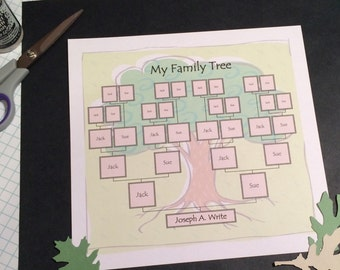 Family Tree- Digital Download Template