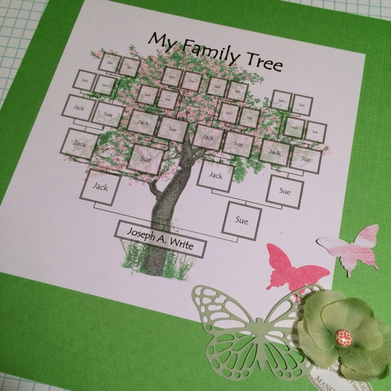 Family Tree Digital Download Template Great In Scrapbooking Etsy