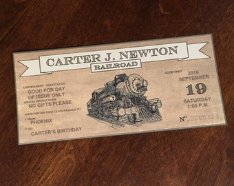 Train Ticket- Editable Digital Download- Party Invitation or Gift Card- Great for Polar Express!