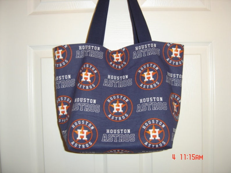 size 40 b0cbb 76583 Houston Astros Lined Fabric Market Shopping Tote Bag