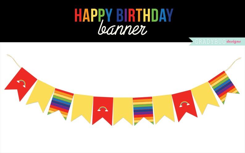 image regarding Printable Flag Banner identify Content Birthday Banner Printable, Flag Banner, Rainbow, Birthday Occasion Printable, Rainbow Printable, Rainbow Birthday, Prompt Obtain