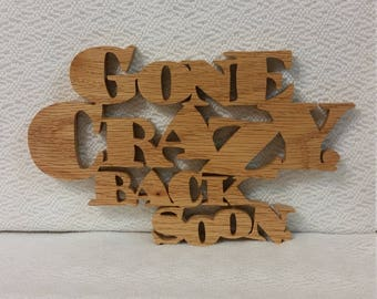 Gone crazy word art