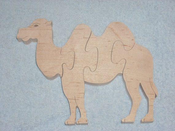 Camel puzzle handmade from maple etsy